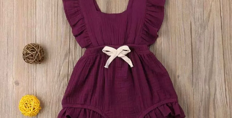 Red Ruffle Playsuit