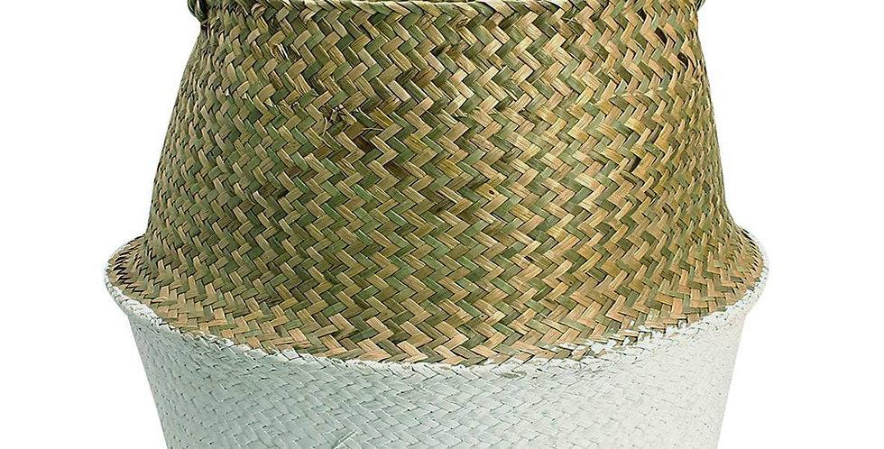 White Half Belly Basket