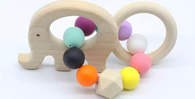 Elephant Multi-Colour Teething Toy