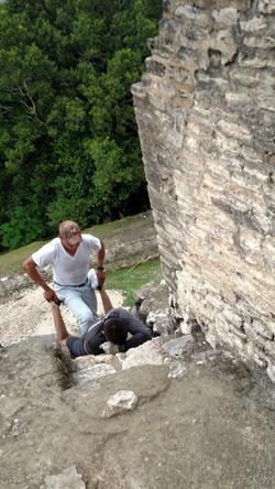 Climbing Xunantunich