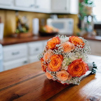Bouquet in Farmhouse Kitchen