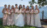 champagne bridemaid dresse