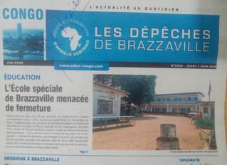 L'École Spéciale en une des Dépêches de Brazzaville