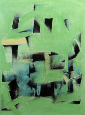 Black, Blue and Yellow Forms within Green