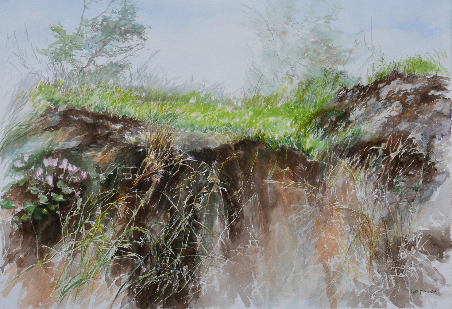 Mountainside-Watercolor- 73X50cm-2018