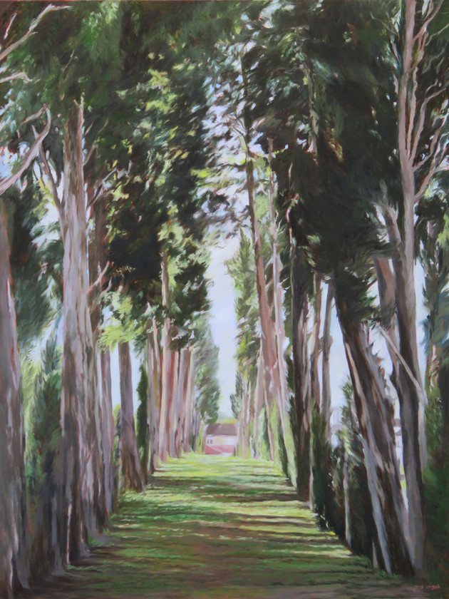 Cypress avenue-Oil-90X120cm-2016