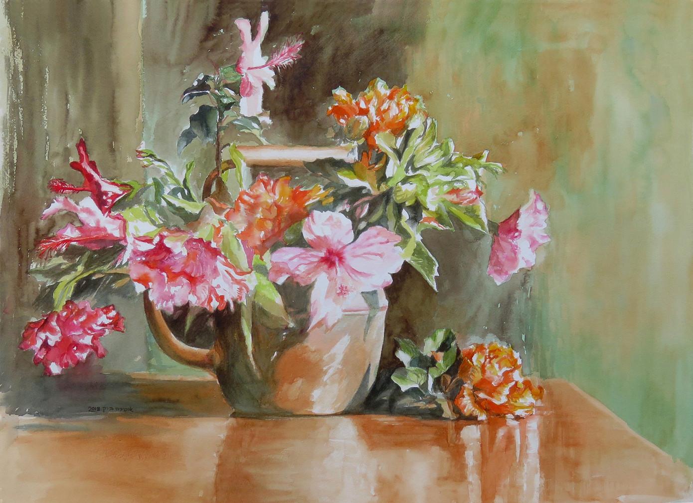 Hibiscus-Watercolor-73X53cm-2018