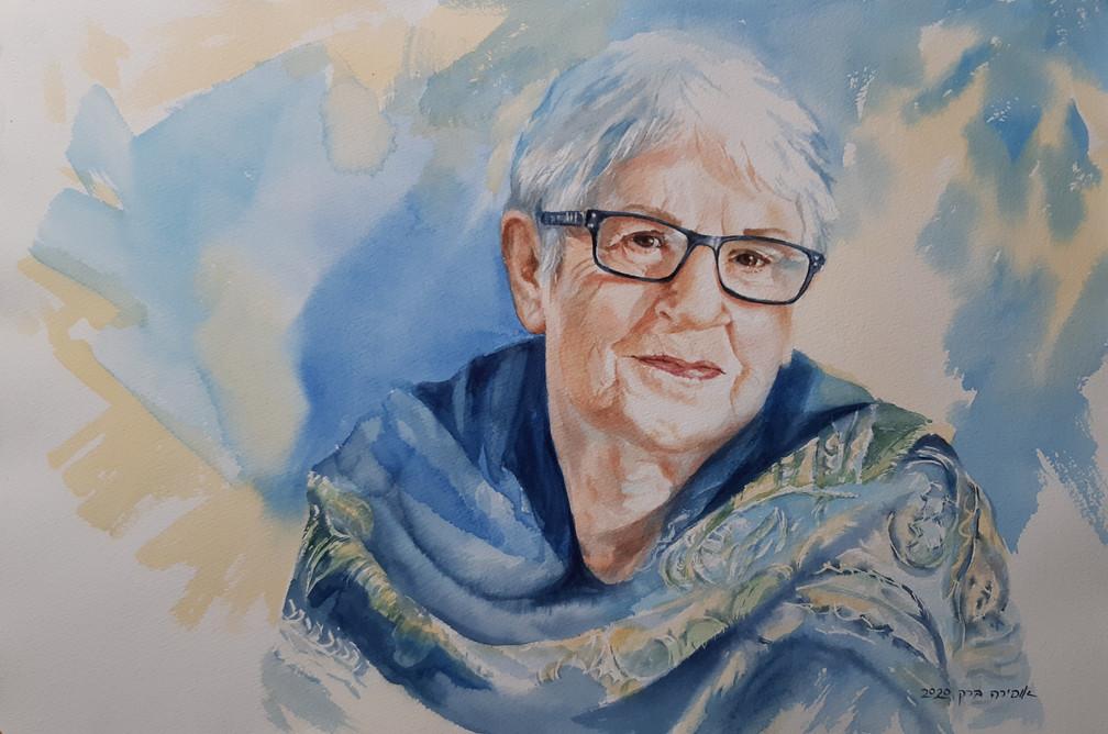 Ruth-Watercolor-55X35cm-2020