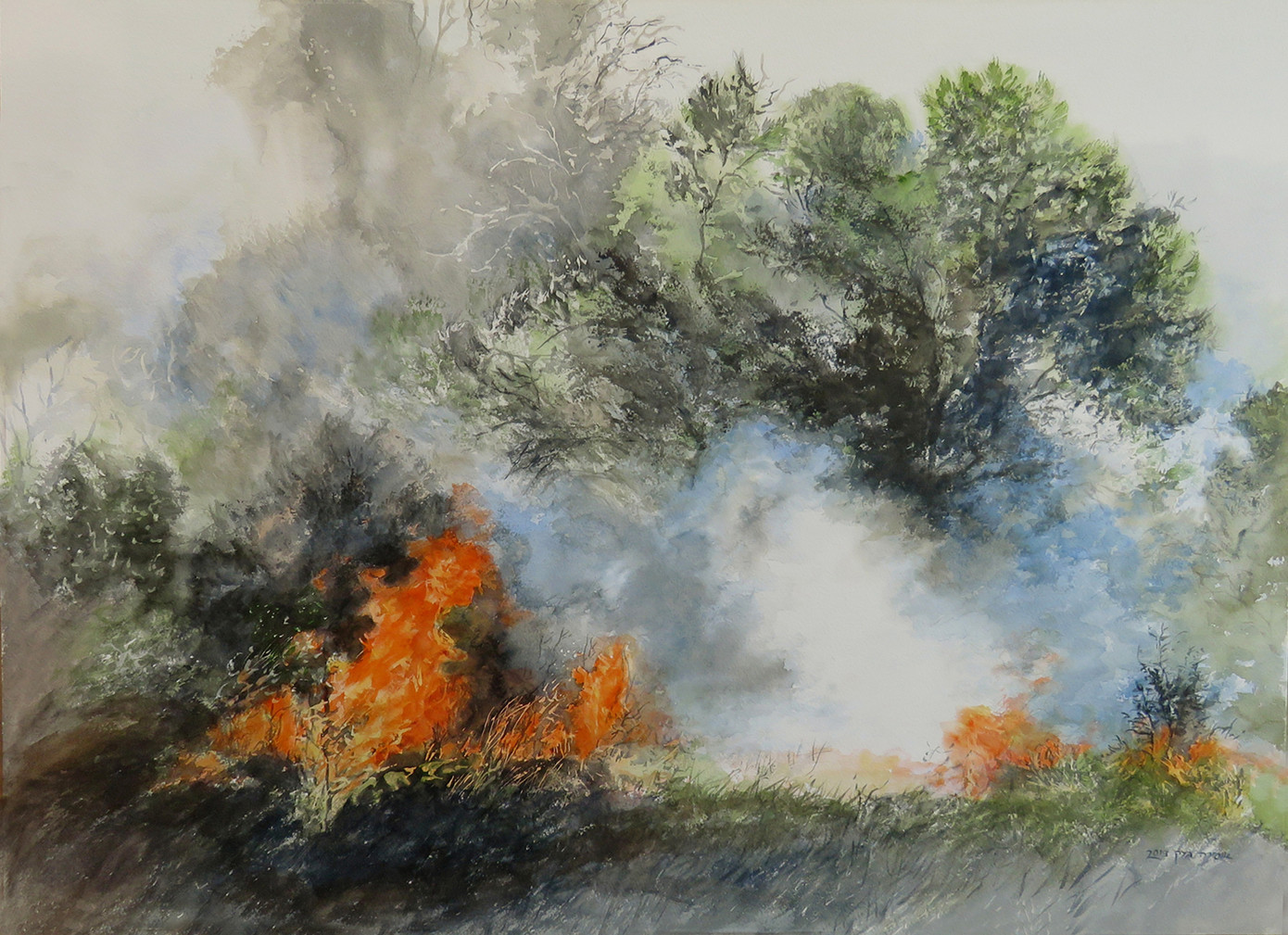 Fire-Watercolor- 73X53cm-2019