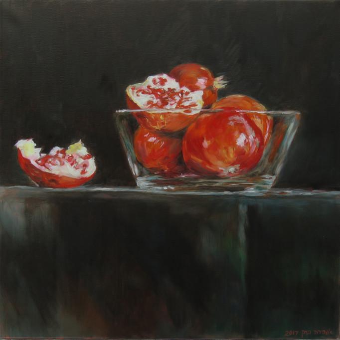 Pomegranate-Oil-40X40cm-2017