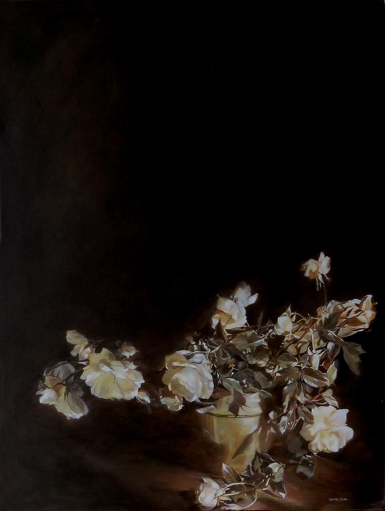 White roses-Acrylic-86X114-1997
