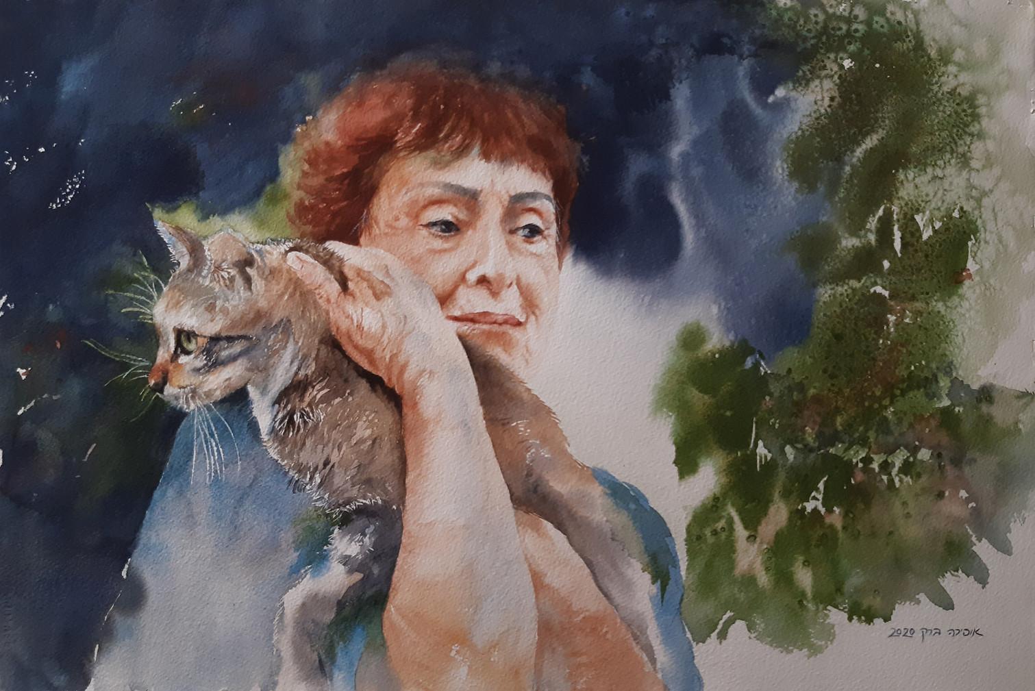 Cats-Watercolor-56X36cm-2020