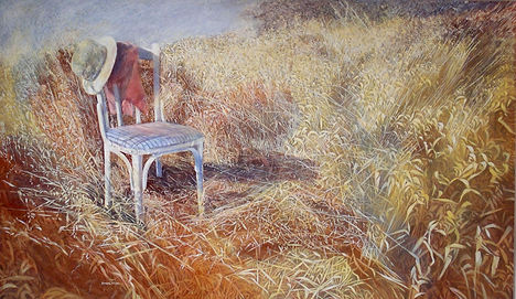 610-The chair-Acrylic on canvas-164X96-1