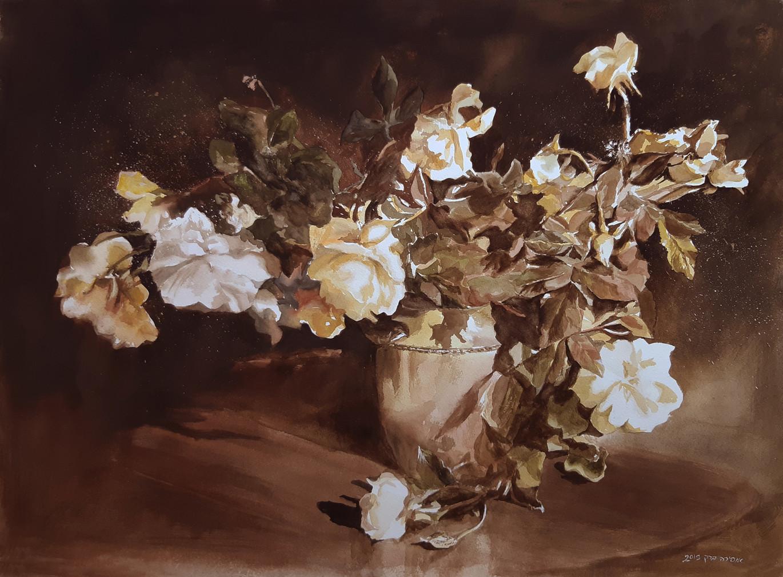 Roses-Watercolor-76X56cm-2019