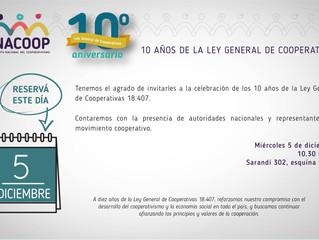 Celebramos 10 años de la Ley General de Cooperativas