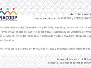 Acto de asunción de nuevas autoridades de INACOOP y FONDES-INACOOP