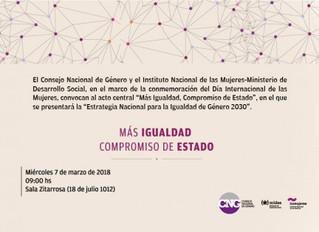 """""""Más Igualdad, Compromiso de Estado"""""""