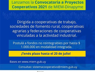 El MIEM convoca a proyectos cooperativos