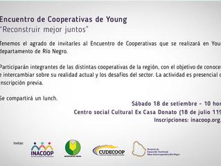 """Encuentro de Cooperativas de Young """"Reconstruir mejor juntos"""""""