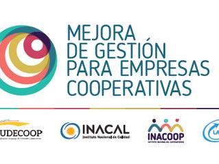 Nuevo plazo - inscripciones a capacitación en el modelo de mejora de gestión cooperativa
