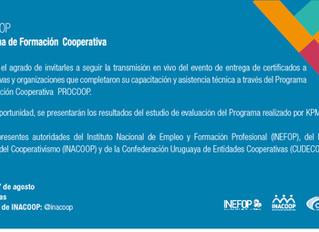 Entrega de certificados del PROCOOP