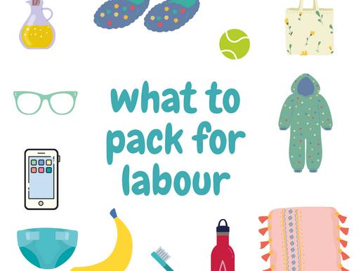 Preparing your Hospital Bag for Labour