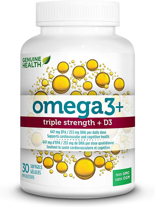Genuine Health Omega 3+Triple Strength + D3