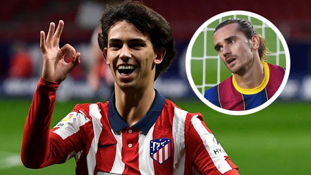 Joao Felix told to deliberately injure Atletico Madrid team-mate Antoine Griezmann live on TV