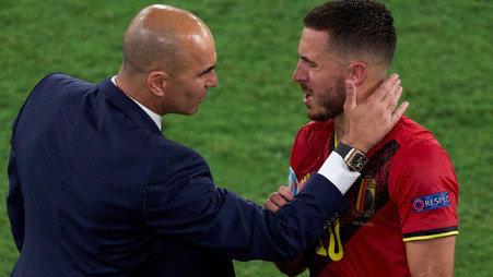 Belgium coach updates Hazard's condition after his injury against Portugal
