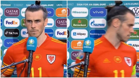 Furious Gareth Bale storms out of interview
