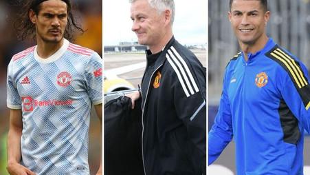 """Edinson Cavani """"unhappy"""" with Cristiano Ronaldo - and what Ole Gunnar Solskjaer makes of it"""