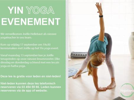 Yin Yoga evenement