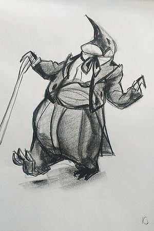 LifeDrawing - Penguin Butler.jpg