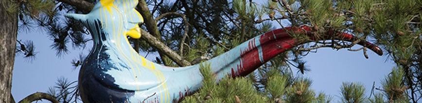 NATIONAL TRUST 'BIRDS' INSTALLATION (COMMISSION) 'I'm blue I believe I've been dyed' 2014