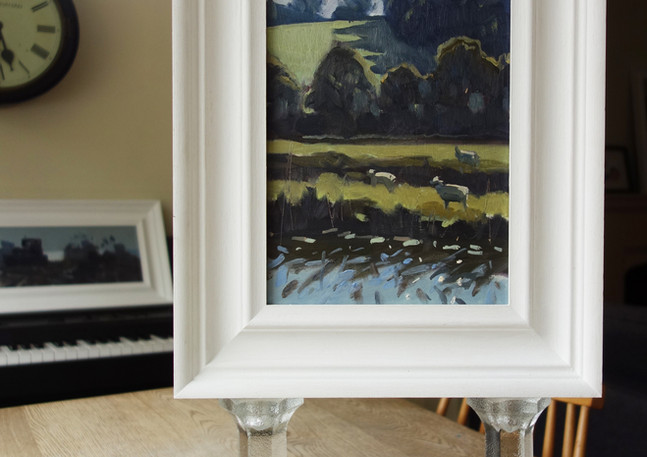 SOLD - Sheep next to the River Rother