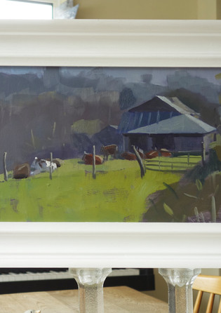 Cattle and a tin barn, Hawkhurst