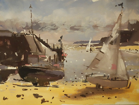 Broadstairs in April, Plein-air painting