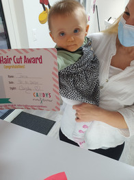 Showing her Award :)
