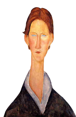 Portrait-Oil-Painting-Woman-Young-Man-by-Amedeo-Modigliani-Room-decor-Hand-painted-High-qu