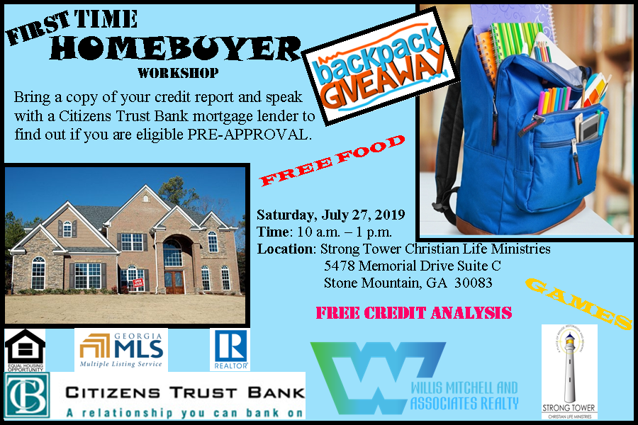 First Time Homebuyer Workshop and Backpack Giveaway