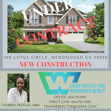 Under Contract: New Construction in McDonough
