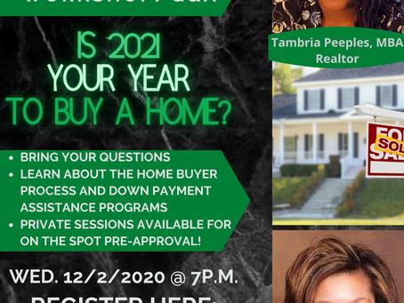 Home Buyer Workshop 12/2/2020