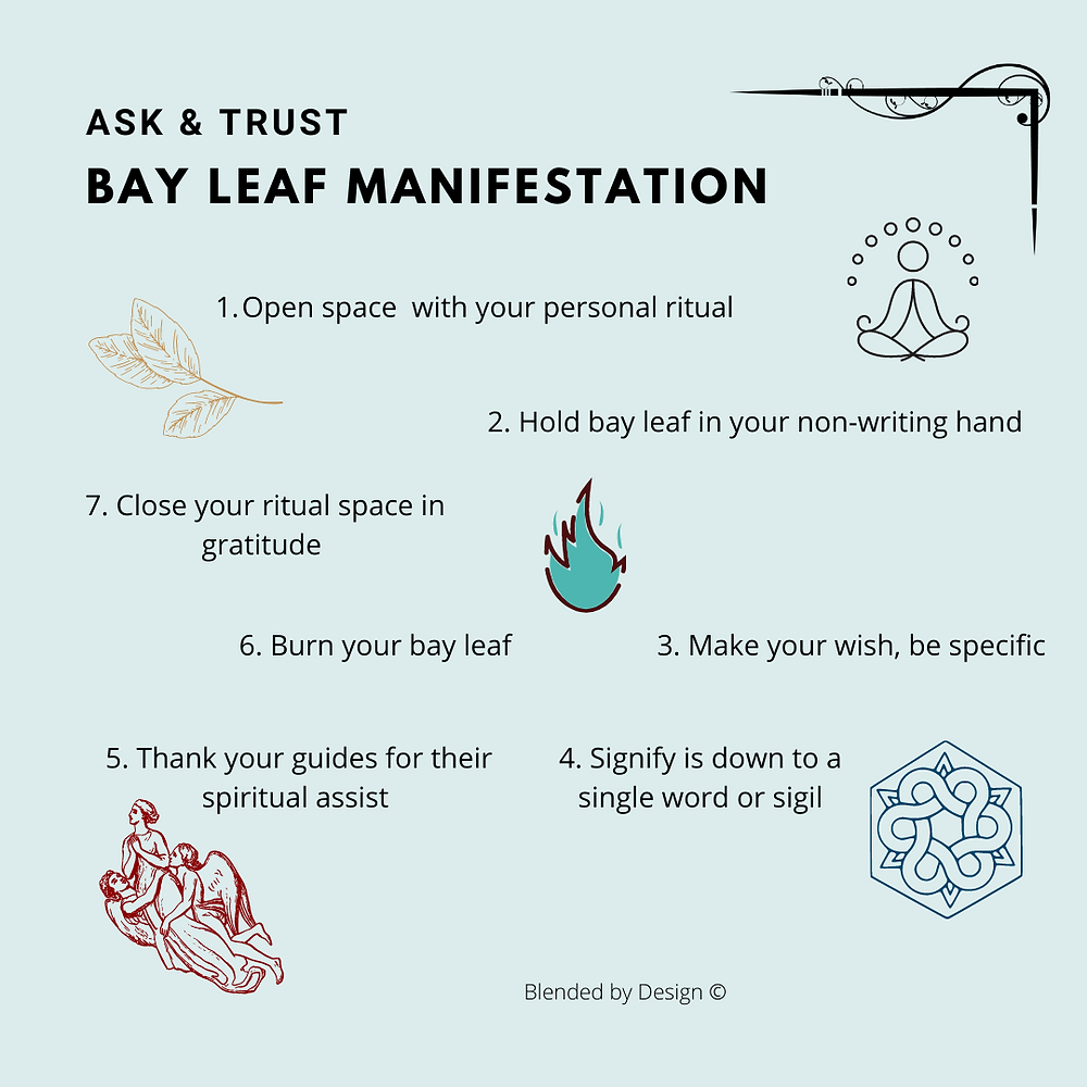7 step bay leaf ritual infographic
