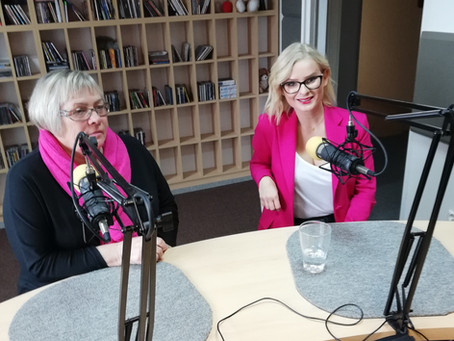 Izabela Sakutova w radiu Tczew