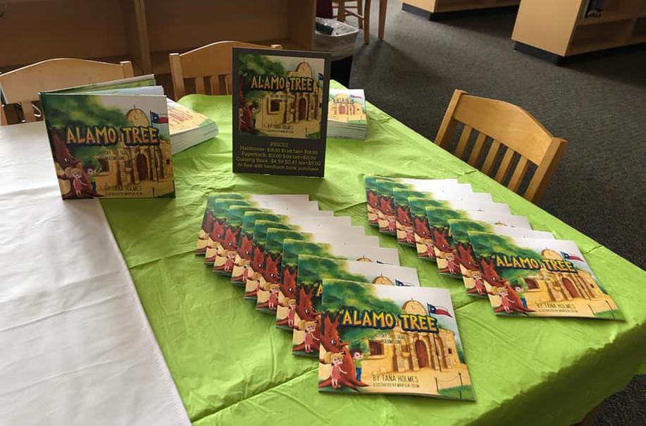Alamo Tree Book on Table