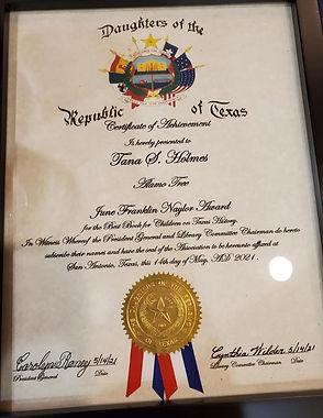 Daughters of The Republic of Texas Award_edited.jpg