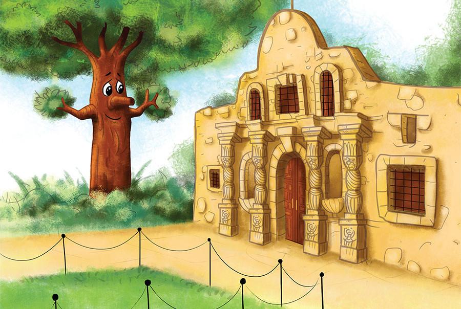 Alamo Tree Church with Tree