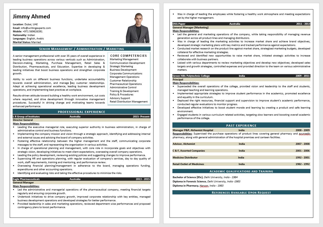 Order resume online dubai