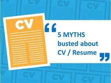 5 myths busted about CV Writing