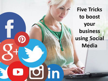 Five Tricks to boost your business using Social Media
